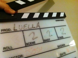Luella short film Clapper Board